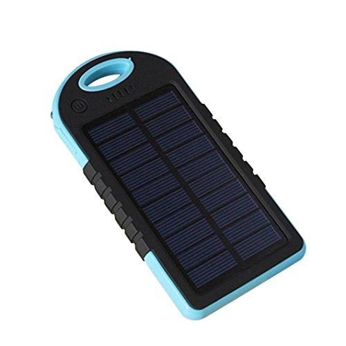 Waterproof 50000mAh USB Solar Charger Power Bank (Blue/Black) - 3