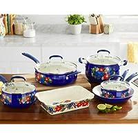 The Pioneer Woman Dazzling Dahlias 10-Piece Cookware Set w/Baker