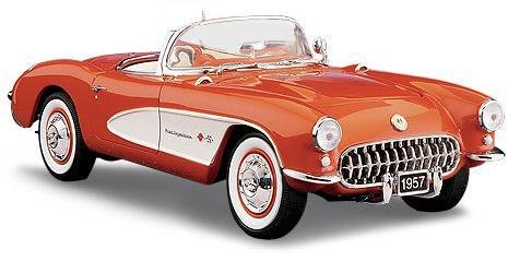 FRANKLIN MINT 1957 Chevrolet Corvette Fuelie Fibergalss Edition Diecast 1:24 -