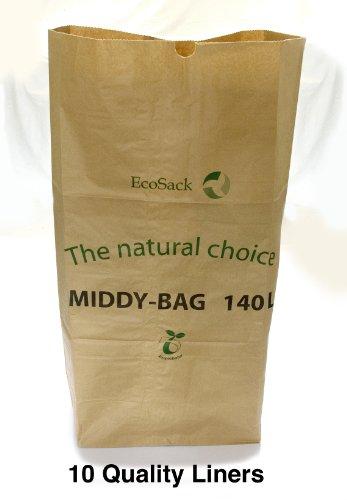 140 Litre Biodegradable Paper Wheelie Bin Liner 10 Liner Pack - 100%...
