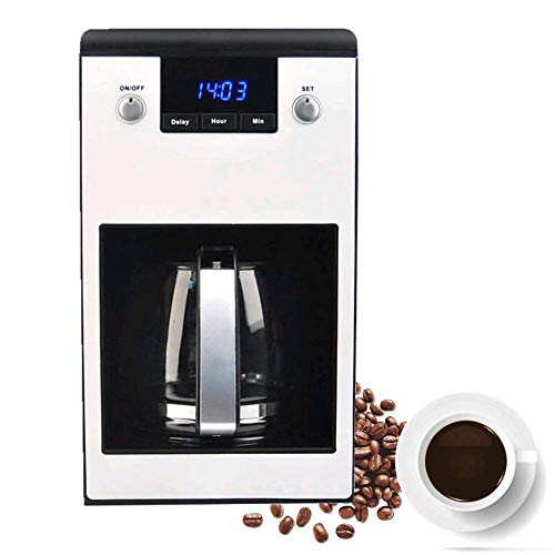 Coffee Maker,Programmable Coffeemaker 10-Cup Glass Carafe with Stainless Steel Coffee Machine,LCD Display-Anti-Drip System-Auto off-Leakproof Coffee Maker(Silver)