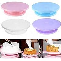 Trukeik Aleissi Base Soporte Giratoria para Decorar Pasteles Tarta Torta Reposteria Fondant Cocina (Azul)