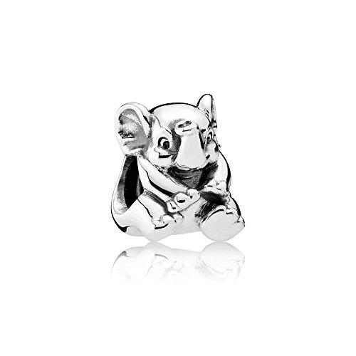 Charm Elephant - Pandora Women's 791902 Lucky Elephant Charm, Silver