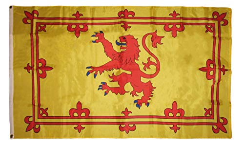 (ALBATROS 3 ft x 5 ft Scotland Lion Rampant 210D-S Nylon Flag Banner Grommets for Home and Parades, Official Party, All Weather Indoors Outdoors)