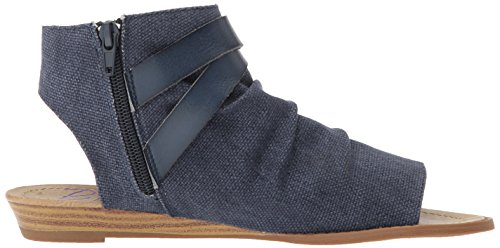 6 Mushroom M Indigo Balla US Canvas Sandal Birch Dyecut Pu Wedge Rancher Blowfish Women's B 0vwaqR