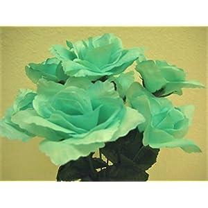 """Phoenix Silk 6 Bushes Small Open Rose 7 Artificial Silk Flowers 12"""" Bouquet 2026 104"""