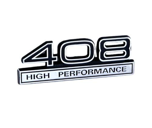 408 High Performance Stroker Engine Emblem with Black & Chrome Trim