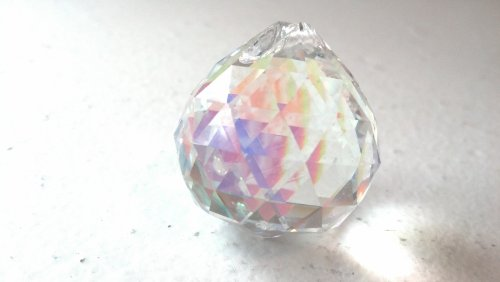 Ab Faceted Crystal (20mm Chandelier Crystal Faceted Ball Iridescent AB Prism Feng Shui)