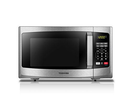 Toshiba EM925A5A-SS Microwave Oven with Sound on/Off Eco Mode and LED Lighting, 0.9 cu. ft, Stainless Steel by Toshiba