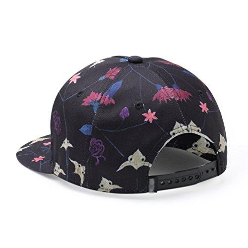 Yuanu Outdoor Ajustable Gorra De Béisbol Flores Imprimir Casual Plana  Visera Sombrero Para Hombre Y Mujer 6ceb1349a36