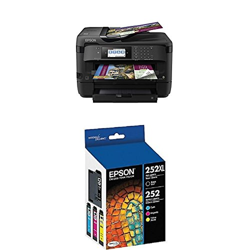Epson (WF-7720) Inkjet Printer with C/M/Y Standard Capacity Cartridges
