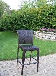 Oakland Living Elite All-Weather Wicker Bar Stool