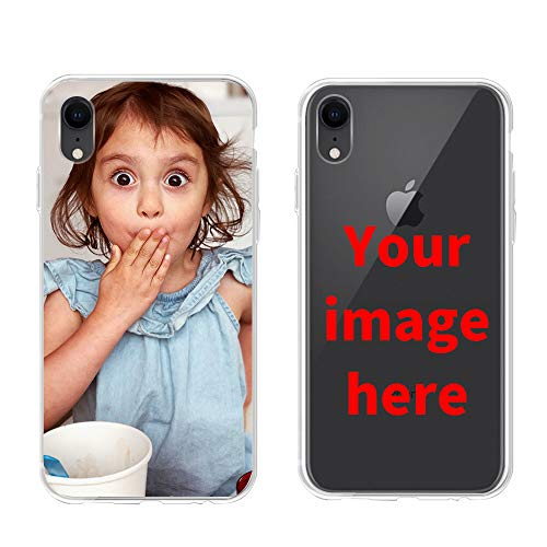 Custom Phone Case for iPhone XR, Personalized Photo Phone Case, Soft Protective TPU Bumper, Customized Cover Add Image Painted Print Text Logo Picture (Best Custom Iphone Cases)