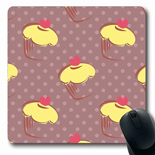 Ahawoso Mousepad for Computer Notebook Baby Beige Bake Lemon Cupcakes Food Drink Cute Brown Bakery Birthday Cake Celebration Chocolate Oblong Shape 7.9 x 9.5 Inches Non-Slip Gaming Mouse Pad ()