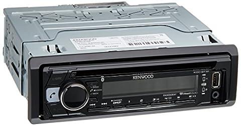 Kenwood KDC-BT31 1-DIN Bluetooth Car Stereo Receiver (Audio De Auto)