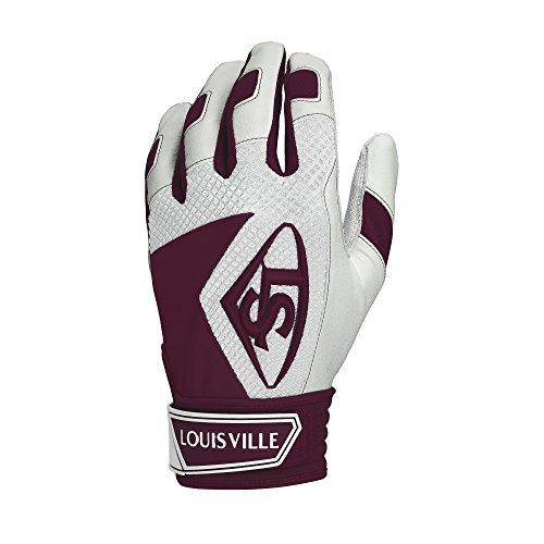 Louisville Slugger Series 7 Batting Glove, Maroon, Medium Maroon Batting Gloves