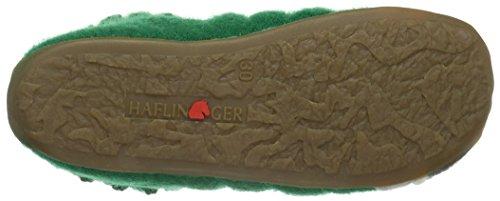 Haflinger Unisex-Kinder Bobble Hohe Hausschuhe Grün (Smaragd 37)