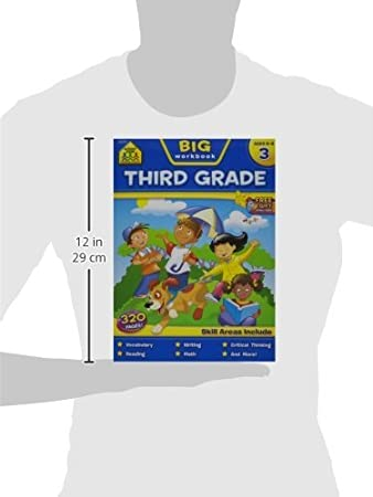 Workbook 3 grade worksheets : Amazon.com: School Zone Big Workbook, Third Grade: Arts, Crafts ...