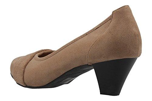 Andres Machado Damen Pumps - Braun Schuhe in Übergrößen