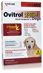 Ovitrol XTend Flea Tick Spot On for Large Dogs (5680 lbs) 3 MONTH