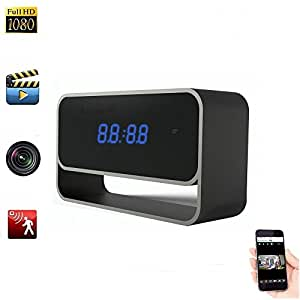 Hidden Wifi Alarm Clock 1080p Full HD Mini DV Cámara espía H.264 IR Nightvision