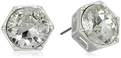 Kenneth Cole New York Silver-Tone Crystal Stud Earrings
