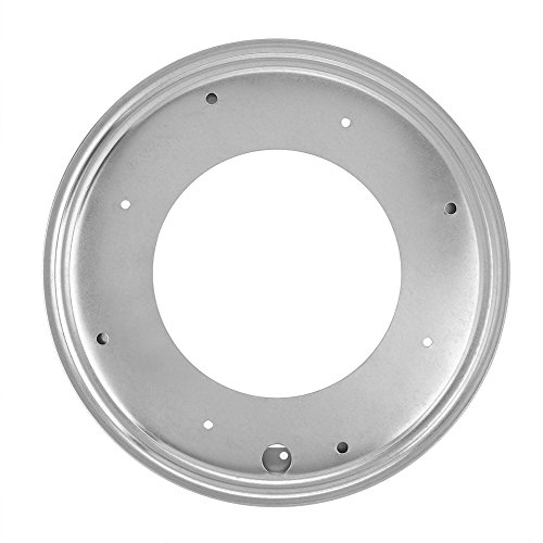 (12inch Round Galvanized Turntable Hollow Rotating Plate Tray Hardware Fruit Food Serving Dish Kitchen Containers Sets)