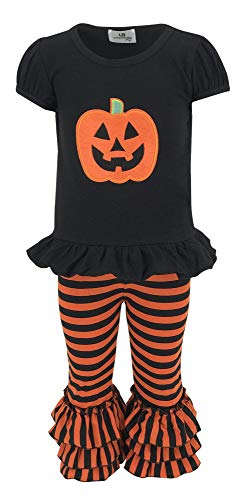 Unique Baby Baby-Girls 2 Piece Halloween Pumpkin Outfit (5t) Orange