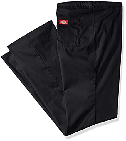 Dickies Men's Big and Tall Eds Signature Unisex Drawstring Scrub Pant, Black, Large/Tall - Dickies Tall Pants