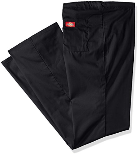 Dickies Men's Big EDS Signature Unisex Drawstring Scrub Pant, Black, Large/Tall (Twill Signature Pants Stretch)