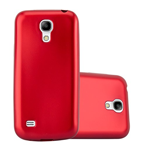(Cadorabo Case works with Samsung Galaxy S4 in METALLIC RED (Design MAT METALLIC) – Shockproof Scratch Resistant Gel Case Protective Shell Bumper Skin Back Cover)