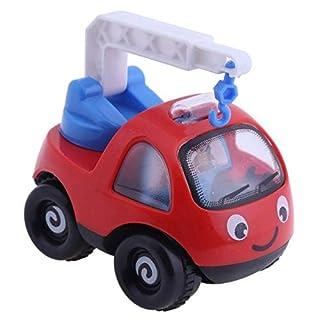 DishyKooker ingegneria inerzia Veicolo Giocattoli Mini Cartoon Crane Escavatore e Camion Modello Auto Giocattolo per Bambini Baby Kids Toys Red