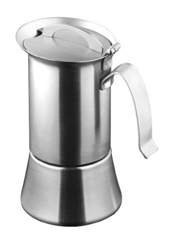 Caroni VE01021 1 or 2-Cup Induction Stainless Steel Stove Top Espresso Coffe Maker with Reduction Filter by Caroni