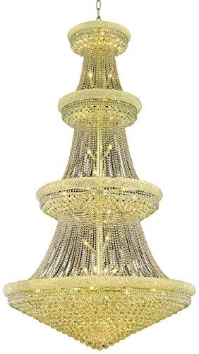 Elegant Lighting Value Primo Collection Chandelier D:54in H:96in Lt:48 Gold Finish (Swarovski Elements Crystals) Gold