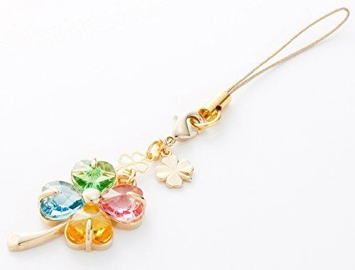 Kisaragi Cell phone Strap 035 four-leaf clover -(Multi-Color) Gold Court by Kisaragi