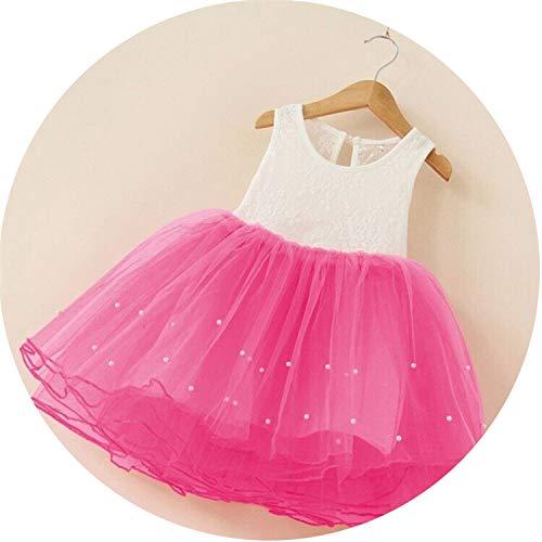 Petals Designs Girl Dress Children Party Costume Kids Formal Events Vestidos Infant Flower Dress Fluffy Wedding Gown 3 5 7T,as photo17,6 ()