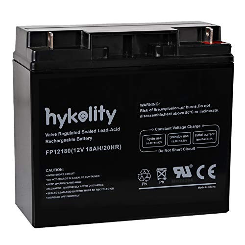 Sealed Rechargeable Lead Acid Battery - Hykolity 12V 18AH Battery Sealed Lead Acid Rechargeable SLA AGM Batteries Replaces UB12180 FM12180 6fm18