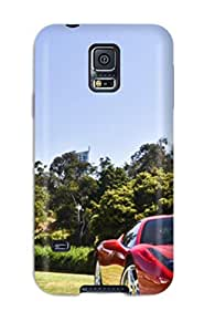 High-quality Durable Protection Case For Galaxy S5(red Sports Car On A Riverbank)