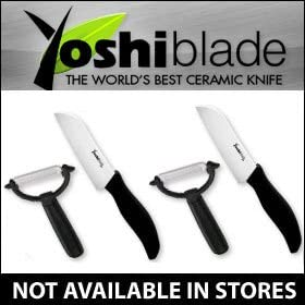 Amazon Com Yoshi Blade Ceramic Knife Includes 2 Knives And Peelers Original As Seen On Tv Sports Outdoors