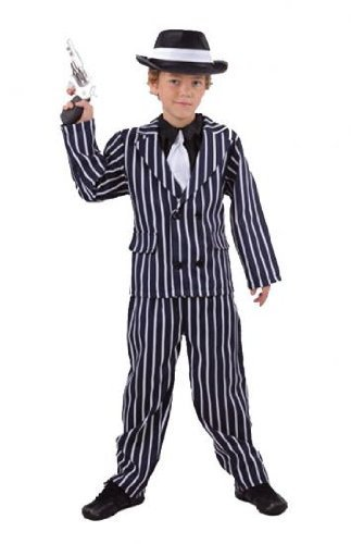 Boys Fancy Dress Costume Gangster (Small) 20s 30s Mob Capone Bugsy by Pams (30s Gangster Costume)