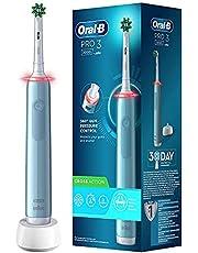 Oral-B PRO 3 3000 CrossAction Elektrische tandenborstel/elektrische tandenborstel, met 3 poetsmodi en visuele 360° drukcontrole voor tandverzorging, ontworpen door bruin, blauw