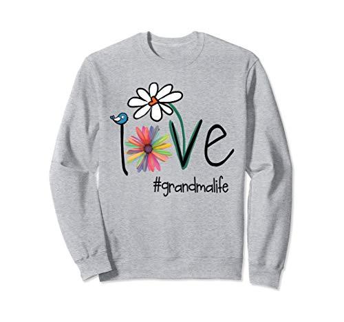 Love Grandma Life - Art Flower Sweatshirt