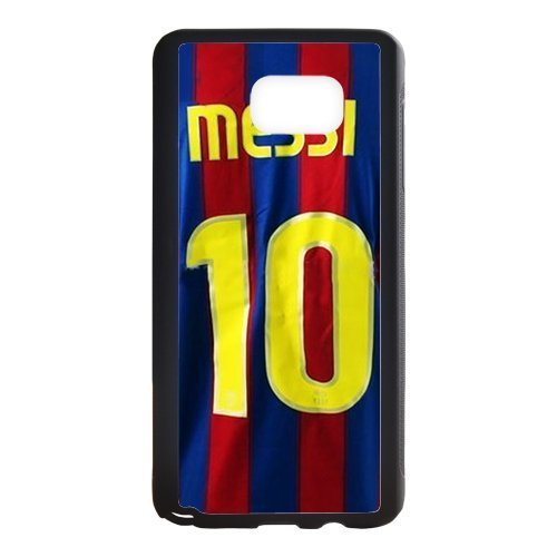DIY Barcelona Soccer Futsal FC Messi Custom Case Shell Cover for Samsung Galaxy Note5 Case (Laser Technology)
