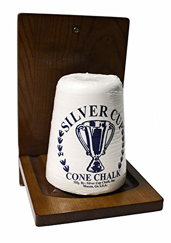 Billiard Cone Chalk - Game Room Guys Pool Cone Chalk Holder w/Cone Chalk - Wood