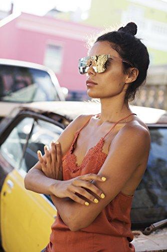 Vintage Sol Mujer Ca Cheapass Lentes Leo Marrón 004 Gafas Hombre Redondos de Negro 8qS6Bxa