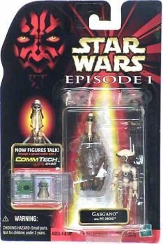 Star Wars Episode I: The Phantom Menace Gasgano with Pit Droids Action Figures 3.75 Inches -