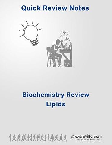 Biochemistry Quick Review: Lipids (Quick Review Notes) (Ap Biochemistry)