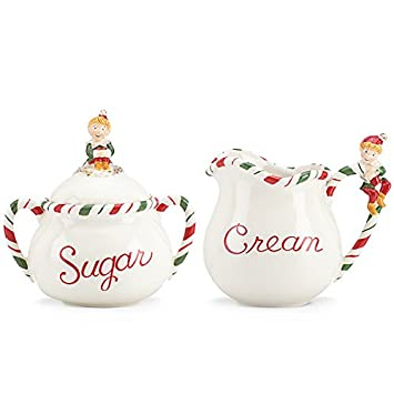 Lenox Kathy Ireland Once Upon A Christmas Sugar and Creamer Set  sc 1 st  Amazon.com & Amazon.com | Lenox Kathy Ireland Once Upon A Christmas Sugar and ...