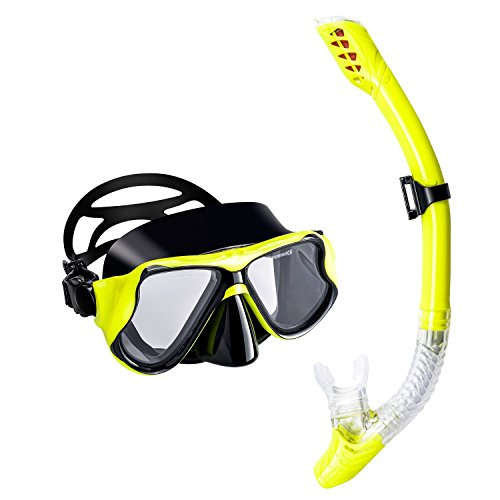 Swimming Goggles Kids Recreation Dive Mask (Yellow) - 8
