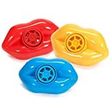 Pack of (12) Colorful Whistling Lips Fun Party Favor Whistles Goody Bags Noisemakers or Oral Motor Speech Therapy Tool